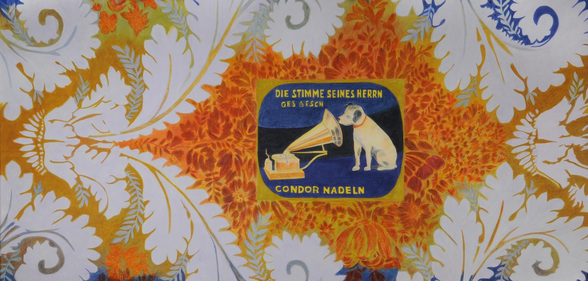 Bilde av tekstilkunstner Irene Myran sitt verk Sonate.